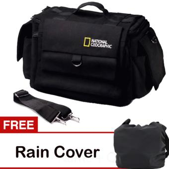 Harga Third Party Tas Kamera National Geographic - Hitam + Free Rain Cover