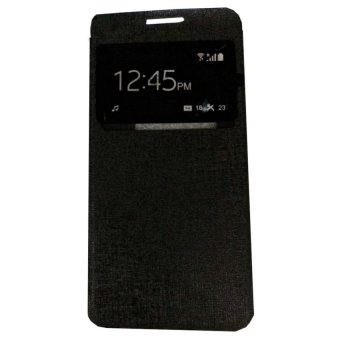 Harga Ume Flip Shell / FlipCover for Samsung Galaxy A5 A500F / Samsung A5 Leather Case / Sarung HP / View - Hitam