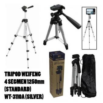 Harga Weifeng Tripod Stand 4 Section Aluminium 3110 - Silver
