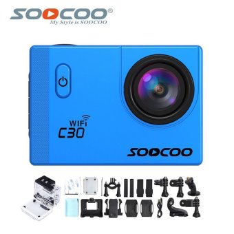 Harga SOOCOO Official C30 Wifi 4K Waterproof Action Sport Camera(Blue)