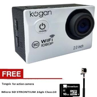 Harga Kogan Action Camera 1080p - 12MP NV WIFI - Putih + Gratis Tongsis + Strontium microsd 16gb Class 10