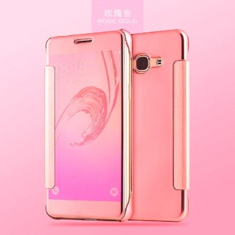 Harga Samsung A5 A500 Flipcase Flip Mirror Cover S View Transparan Auto Lock Casing Hp-Rose Gold
