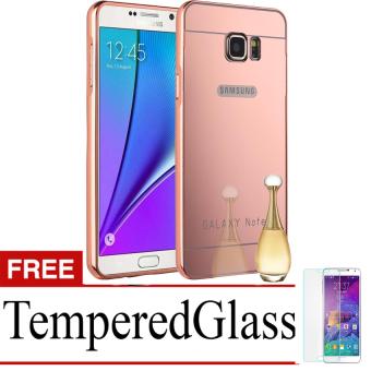 Fantastic Voucher Source · Case for Samsung Galaxy Note 5 Alumunium Bumper With Mirror Backdoor Slide Rose