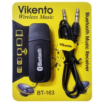 Harga Bluetooth Music Receiver USB Audio Dongle 3.5mm - Hitam