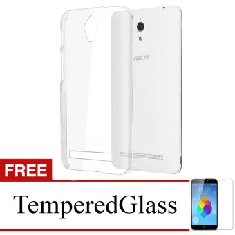 Harga Case for Asus ZenFone 3 Max / ZC520TL - Clear + Gratis Tempered Glass - Ultra Thin Soft Case