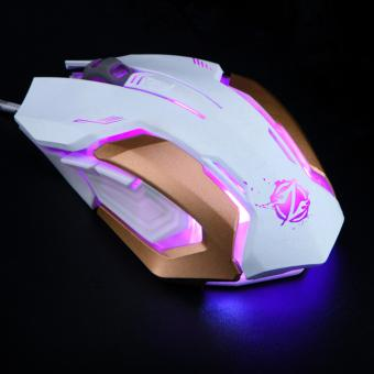 Mouse Gaming Zornwee - Gaming Mouse Colorfull Lamp Z035 White