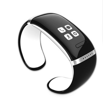 Harga JTS L12s White Bluetooth Smart Bracelet Wristwatch Oled Digital Watch Mp3 for IOS Iphone Samsung HTC Android Smart Phones-White