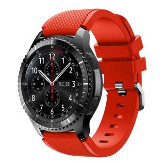 Harga Flexible Sports Silicone Watch Strap for Samsung Gear S3 Frontier / S3 Classic - Red - intl