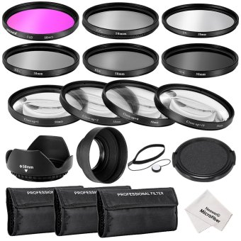 Harga Neewer 58MM Complete Lens Filter Accessory Kit for Canon EOS REBEL 700D 650D 600D 550D (T5i T4i T3i T2i)