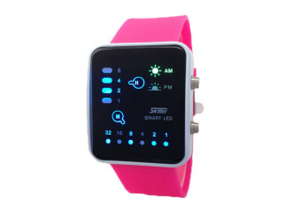 Harga SKMEI Digital LED Waterproof Casual Wrist Watches(Rose Red)