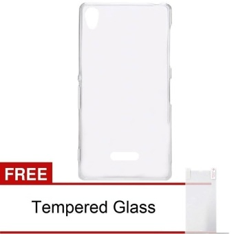 Case Infinix Case Hot for Note X551 - Clear + Free Tempered Glass