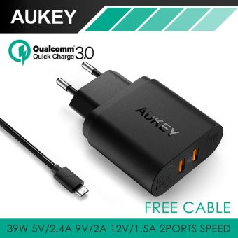 Harga AUKEY PA-T16 DUAL Quick Charge 3.0 Wall Charger Fast Charging