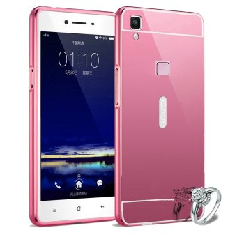 Harga Case For Vivo V3 Max Bumper Slide Mirror - Rose Gold