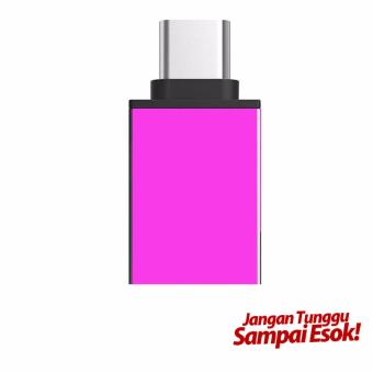 Harga OTG USB Adapter TYPE C - pink