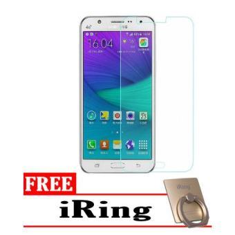 Tempered Glass Samsung Galaxy J5 2016 Screen Protector Putih Transparant Free iRing .