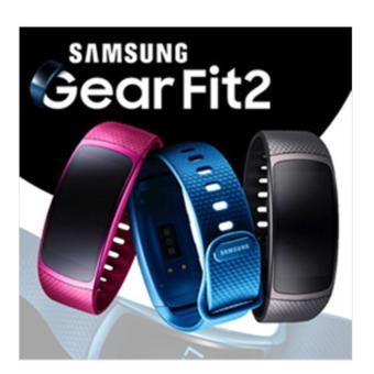 Harga Samsung Gear Fit2 / GPS sports band / Samsung smart watch | Black | Pink | Large / Small Band - intl