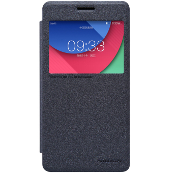 Harga Nillkin Sparkle Leather Case / Flip Case Cover Original Lenovo Vibe P1 Turbo - Hitam