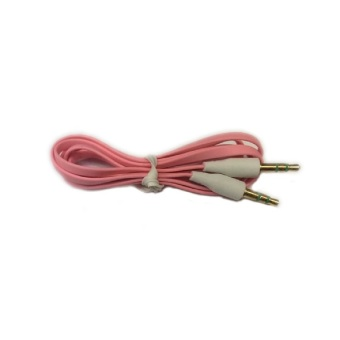 Harga Cable Audio Auxilary Jack 3.5mm Male To Male / Cable AUX Audio to Audio - Pink