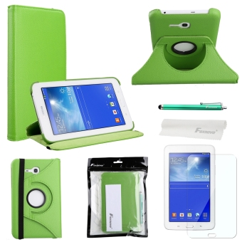 Harga 4-in-1 PU Flip Case Cover Set for Samsung Galaxy Tab 3 Lite 7.0 T110 T111 (Green)