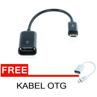 Harga Lucky OTG Cable Connect Kit For Android - Hitam + Gratis Kabel OTG
