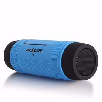 Harga Zealot Bluetooth Speaker Waterproof dengan Powerbank 4000mAh & Senter - Blue