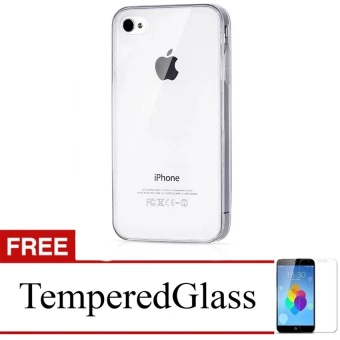 Harga Ultra Thin for Apple Iphone 4G / 4S - Putih Transparan + Free Tempered Glass Clear
