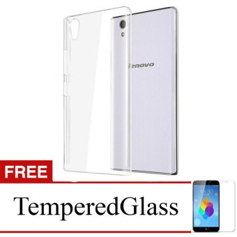 Harga Case for Lenovo Vibe P1 Turbo - Clear + Gratis Tempered Glass - Ultra Thin Soft Case