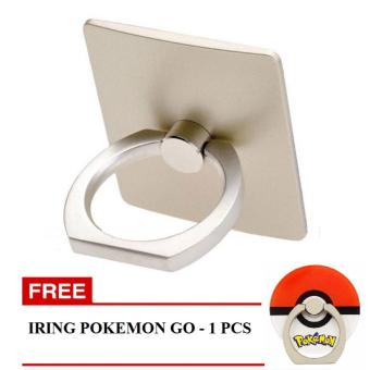 Harga iRing Mobile Phone Stand - Gold + Gratis iRing / Ring stand - Cincin Hp Model Pokemon Go 1Pcs