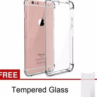 Case Anti Crack Iphone 7 Tpu Softcase Clear Free Tempered Glass Source Jual .