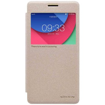 Harga Nillkin Lenovo Vibe P1 / Lenovo Vibe P1 Turbo Sparkle Flip Leather Case - Original - Gold