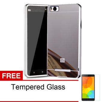 Bonus Tempered Glass. Harga Accessories Hp Xiaomi Mi4i Metal Bumper Metal Backcase .
