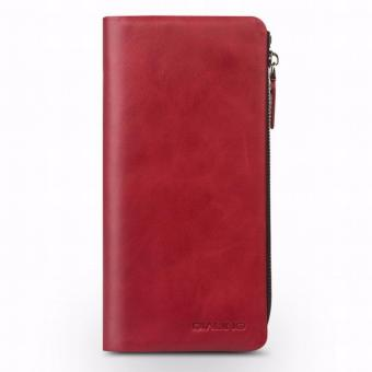 Harga QIALINO Handmade Genuine Leather Wallet Case for iPhone 6s iphone 7 & iPhone 7 plus slots for cards 4.7/5.5 inch, Red - intl