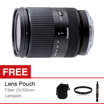 Harga Tamron Lens 18-200MM DI III VC F/3.5-6.3 for Canon EOS M-Mount + Free Aksessories
