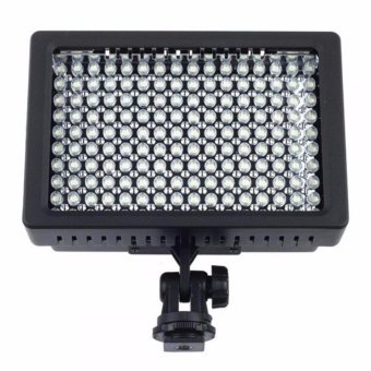 Harga 160 LED Video Light for Camera DV Camcorder Canon Nikon Sony Lightning Kamera HD-160 Lighting Lampu Pencahayaan Penarangan Aksesoris Kamera Aksi Perlengkapan Studio Foto Equipment Fotografi Photograph Lamp - Black
