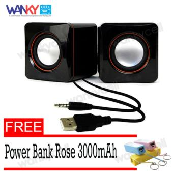 Harga Wanky Portable Speaker Multimedia - Hitam Gratis Power Bank Rose Candy