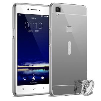 Harga Aluminium Bumper Backcase Mirror PC For Vivo V3 Max - Black