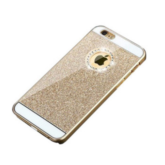 "Harga 2015 Hot Bling Logo Window Luxury phone case for iPhone 6 Plus 5.5"" Inch Shinning back cover Sparkling case for iPhone 6 Plus Case (Gold)"