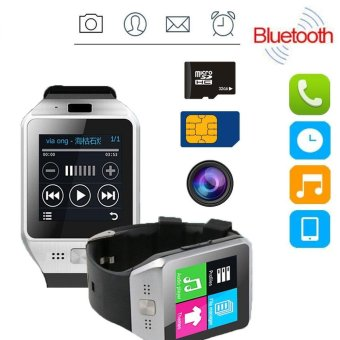 Harga Hot JV08S DZ09 Bluetooth Smart Watch Phone GSM SIM For Android IOS iphone - intl