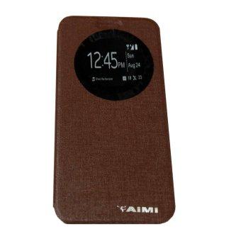 Aimi Untuk Asus Zenfone 4 Flipshell / Flipcover / Sarung Case - Cokelat