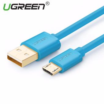 Harga UGREEN 0.5m Premium Micro USB 2.0 Data Sync Charging Cable (Blue) - Intl