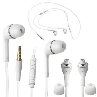 Harga Samsung Handsfree Original 100% Authentic Stereo S4/S5 Flat Kabel With Volume Control - Putih
