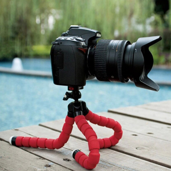 Harga 15CM Flexible Tripods Octopus Stand for Camera/Smartphone (Red)