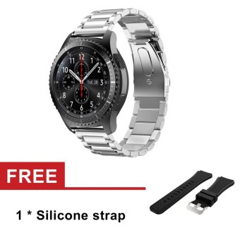 Harga Stainless Steel Watch Band Strap For Samsung Galaxy Gear S3 Classic SM-R770 S3 Frontier SM-R760 SM-R765 Strap Metal Clasp - intl
