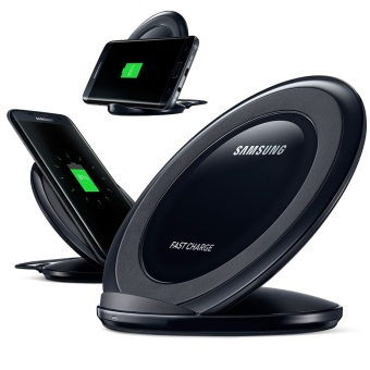 Harga Samsung Wireless Charger Stand Fast Charging for Galaxy Note 5 / S6 / S6 Edge / S7 / S7 Edge - Hitam