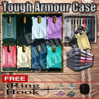 Harga Elegant Case Iron Tough Armour Xiaomi Redmi Note 4 - Merah + Gratis Iring + Hook