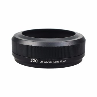 Harga JJC LH-JX70II Black Upgrade Metal Lens Hood 49mm Filter Adapter Ring Cap Thread for Fujifilm X70 Replaces Fujifilm LH-X70 - intl