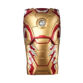 Harga Iron Man 3D Armor Hard Phone Case Cover with LED light For iPhone 6 Plus / 6s Plus Gold - intl