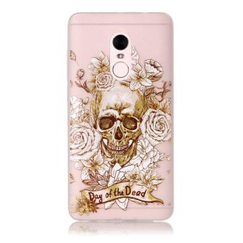 Harga Luminous Glow Patterned TPU Phone Case for Xiaomi Redmi Note 4 - Day of the Dead - intl