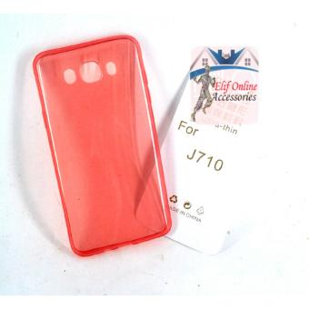 Harga Ultrathin Softcase samsung galaxy j710 / j7 2016 Aircase - Pink Clear