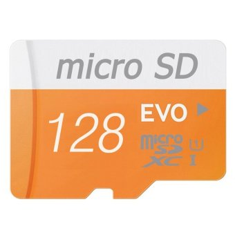Harga 128GB Class 10 Micro memory SD Card with Adaptor (Orange) - With Adapter and Gift